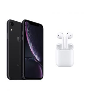 timeless design 58921 d6aa5 iPhone XR 64GB Black + Apple AirPods