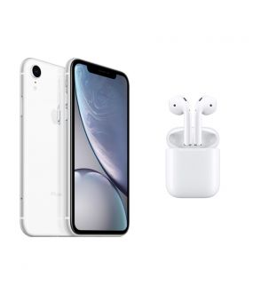 premium selection ee6c1 ca433 iPhone XR 64GB White + Apple AirPods
